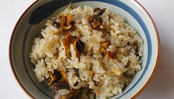 中海産赤貝めしの素調理例
